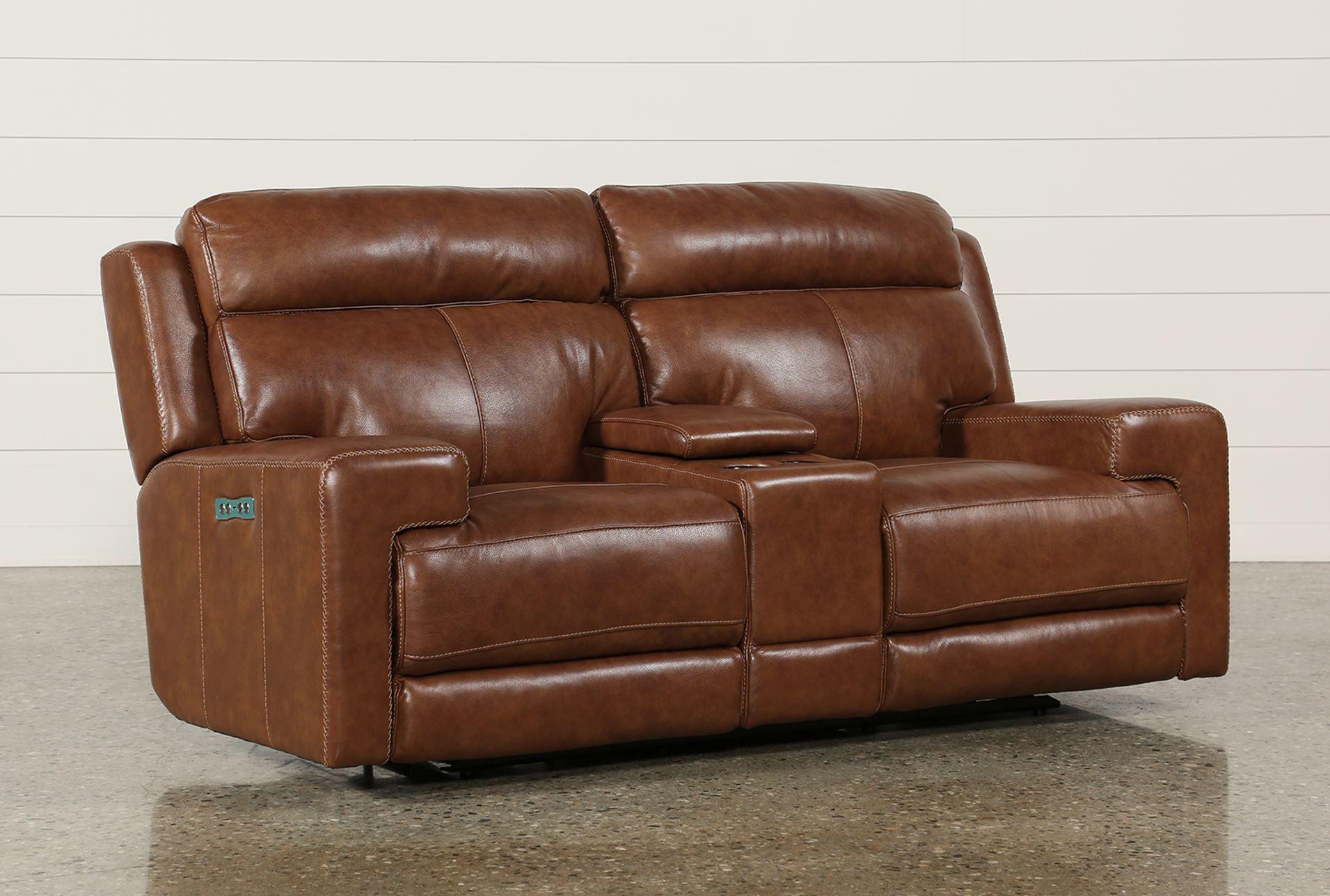 Hannon Power Reclining Leather Sofa Baci Living Room