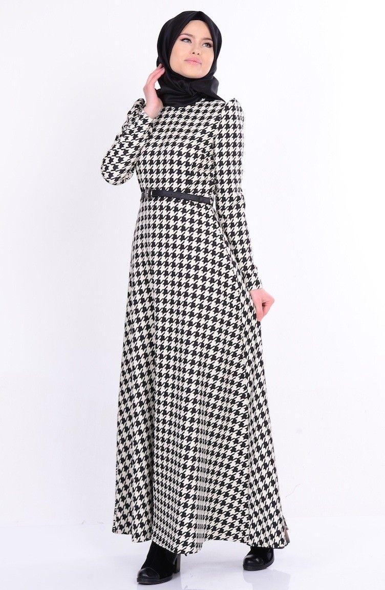 Sefamerve Tesettur Kazayagi Desenli Elbise Modelleri Moda Tesettur Giyim Elbise Modelleri Elbise Moda Stilleri