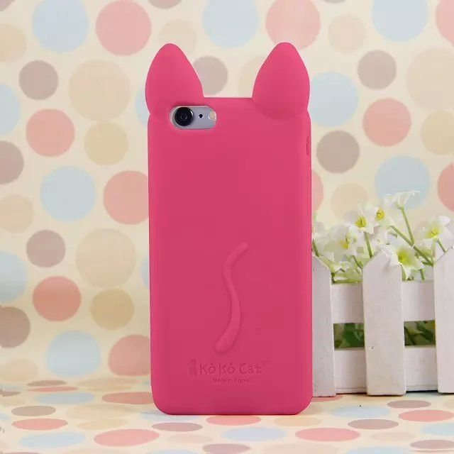 2616d12b98 Brand Cartoon KOKO Cat GIRL Case for iphone 5 5G 5S SE 6S 7 7Plus Cute Cat  Ear Silicon Material Soft Back Case Cover phone Shell