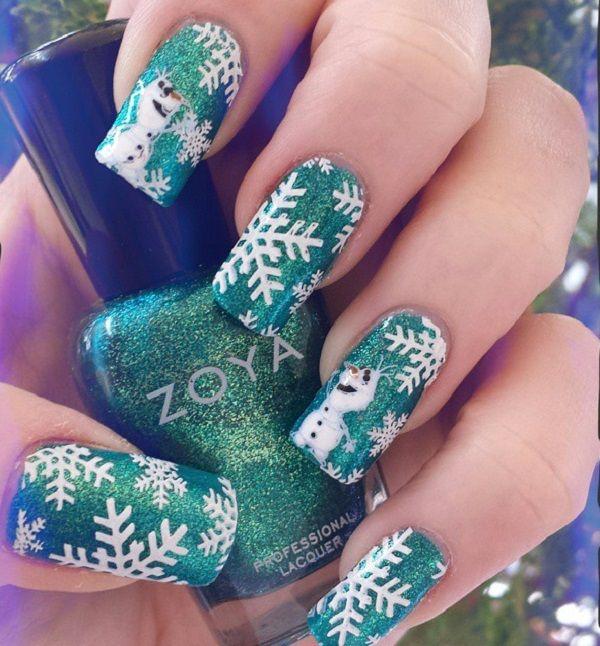 35 snowflake nail art ideas snowflake nail art snowflake nails 35 snowflake nail art ideas prinsesfo Choice Image
