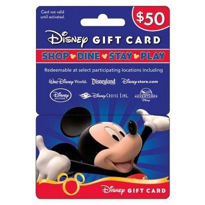 Disney Gift Card 50 In 2021 Disney Gift Card Disney Gift Prepaid Gift Cards