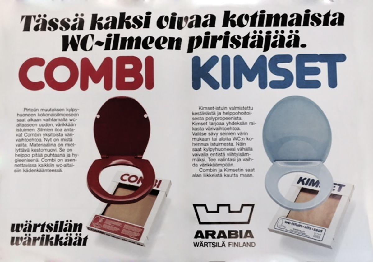 Combi- ja Kimset-istuimet myytiin näyttävissä väreissä! http://www.ido.fi #bathroom #bathroomdesign #interiordesign #homespa #scandinaviandesign #bathroomideas #bathroomsink #interiordecoration #toilet #factory #sink #finnishdesign #bathroominspiration #ceramics #ceramicsoven #bathroomidea #tap #washbasin #fauset #behindthescenes #sanitary #porcelain #interiorideas #advertisement #history #toiletseat #printad #advertisement #marketing