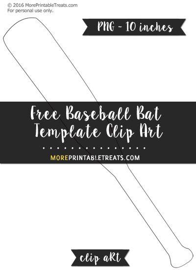 Free baseball bat template clipart free clipart files free baseball bat template clipart pronofoot35fo Choice Image