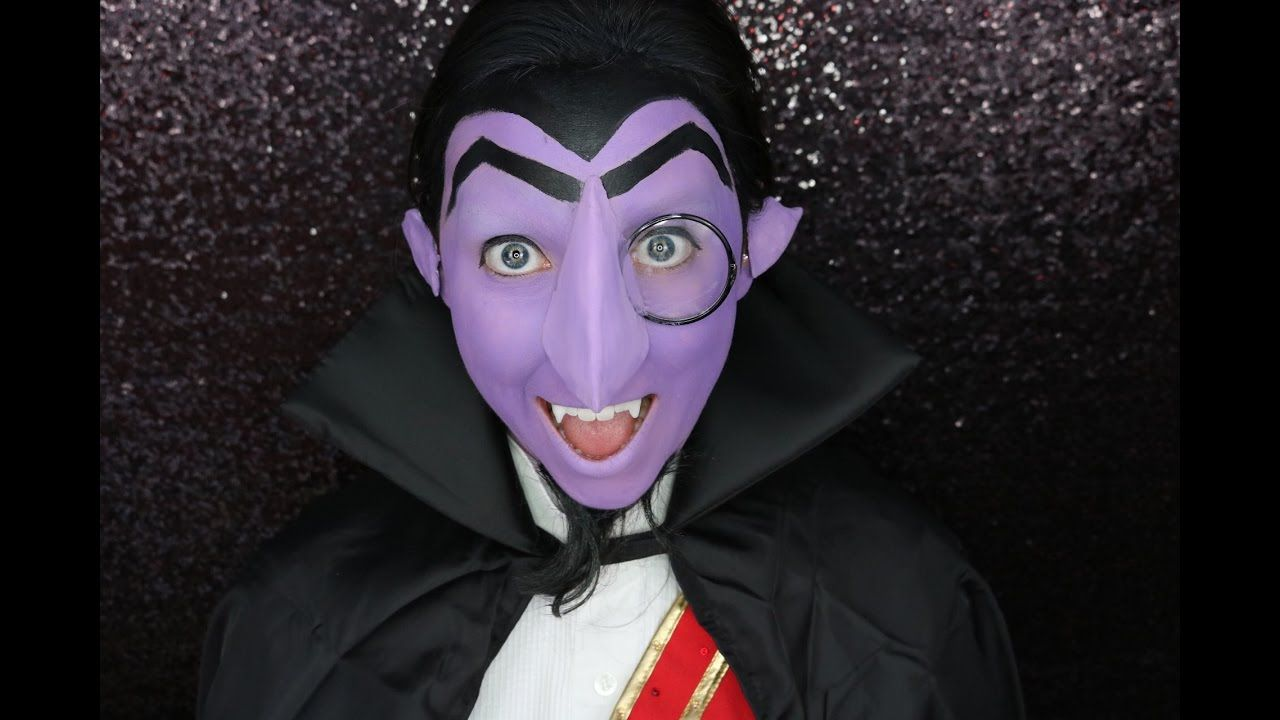 Count Von Count Makeup In 2019 Sesame Street Costumes