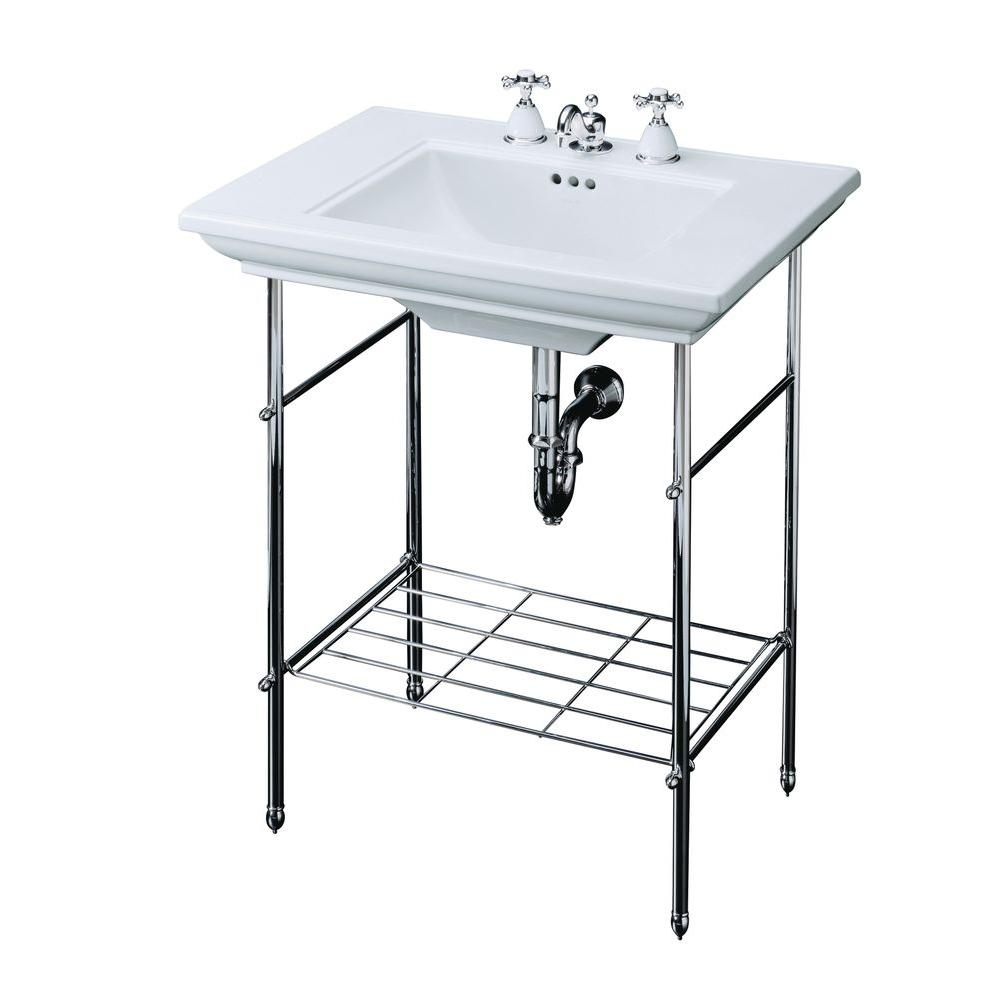 Memoirs Table Legs Only In Polished Chrome In 2020 Console Sink Kohler Memoirs Kohler Sink