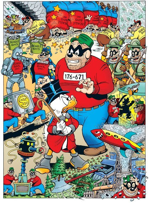 Scrooge Mcduck And The Beagle Boys Terror Of The Beagle Boys