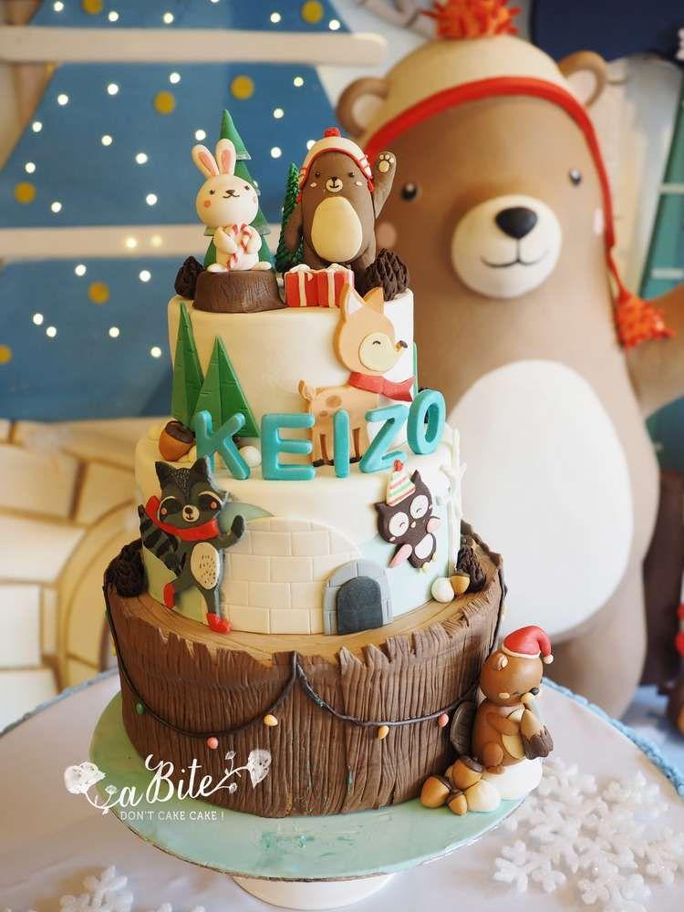 Woodland Birthday Party Ideas Woodland Birthday Cake Winter