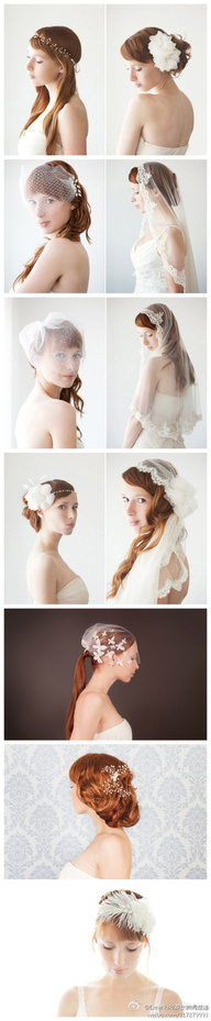 Beautiful bride headdress , SIBO Designs bride hair design