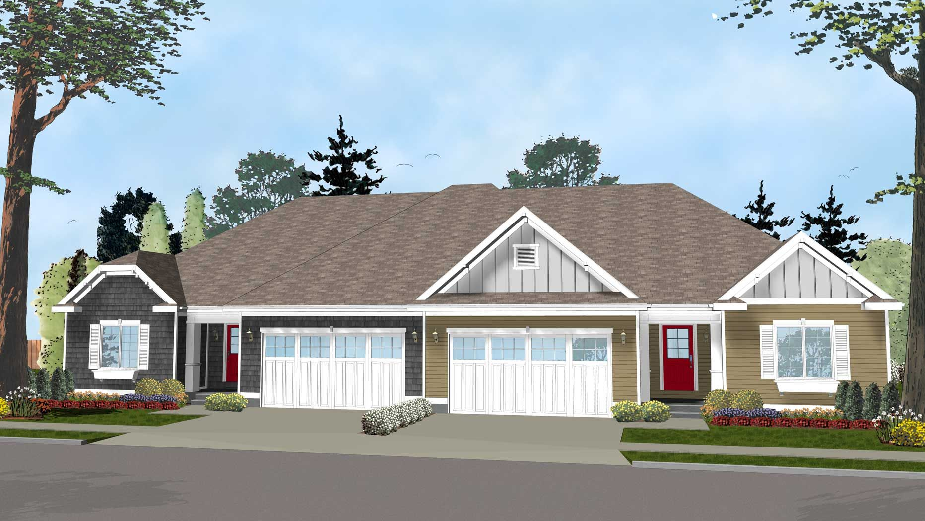 Plan Easy To Build Duplex House Plan Duplex House Plans
