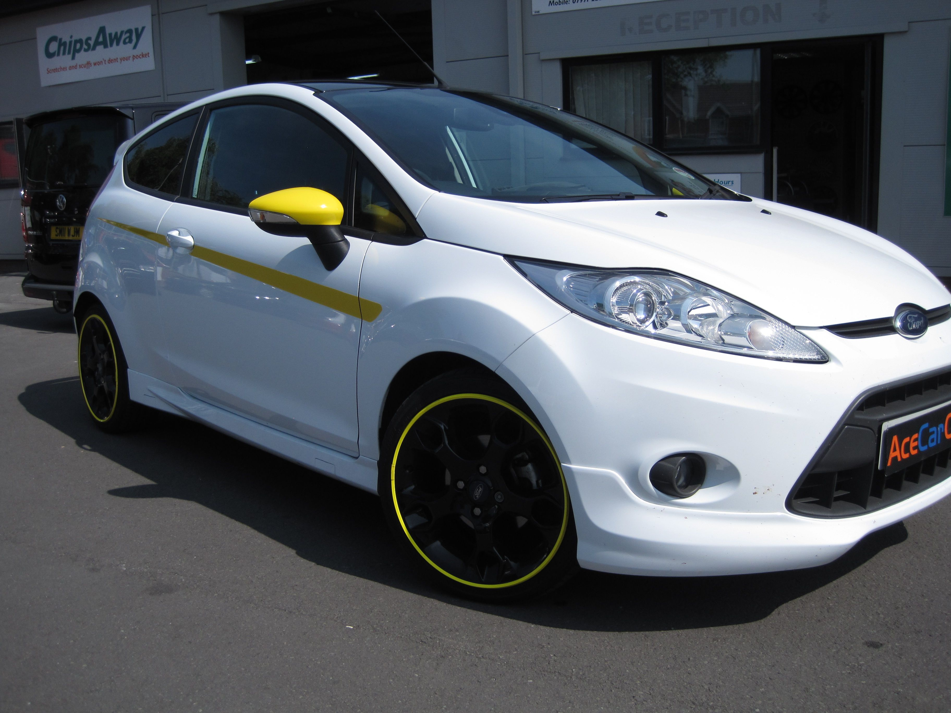 Here s a fiesta zetec we have styled with the yellow alloy gators black alloys