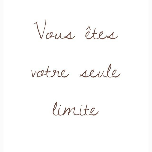 You Are Your Only Limit Quote French Motivation Inspiration Studyspo Studyblr Studygram Aest Quote Aesthetic French Quotes Motivation