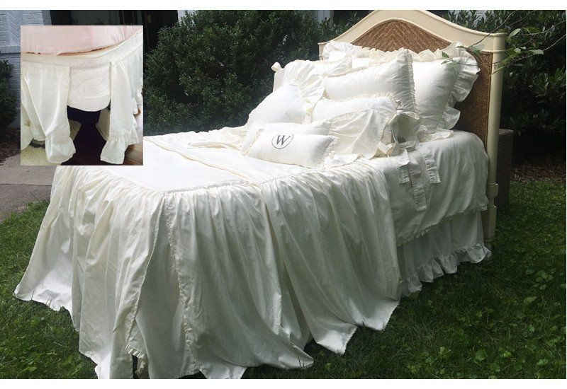 Adjustable Bed Skirt Farmhouse Living California King Size Bed