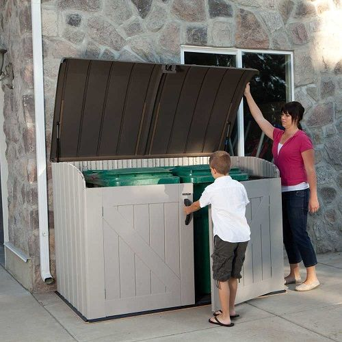 Outdoor Garbage Storage Shed Bin With Uv Protectant