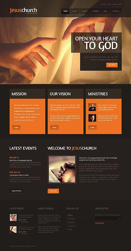 Template 39921 Jesus Church Website Template Church Website Design Website Template Web Design