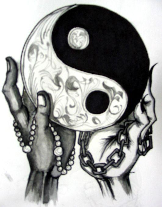 40fe32631 Ying Yang Tattoo Sketch by Laziiboi on DeviantArt | logo | Tattoos ...