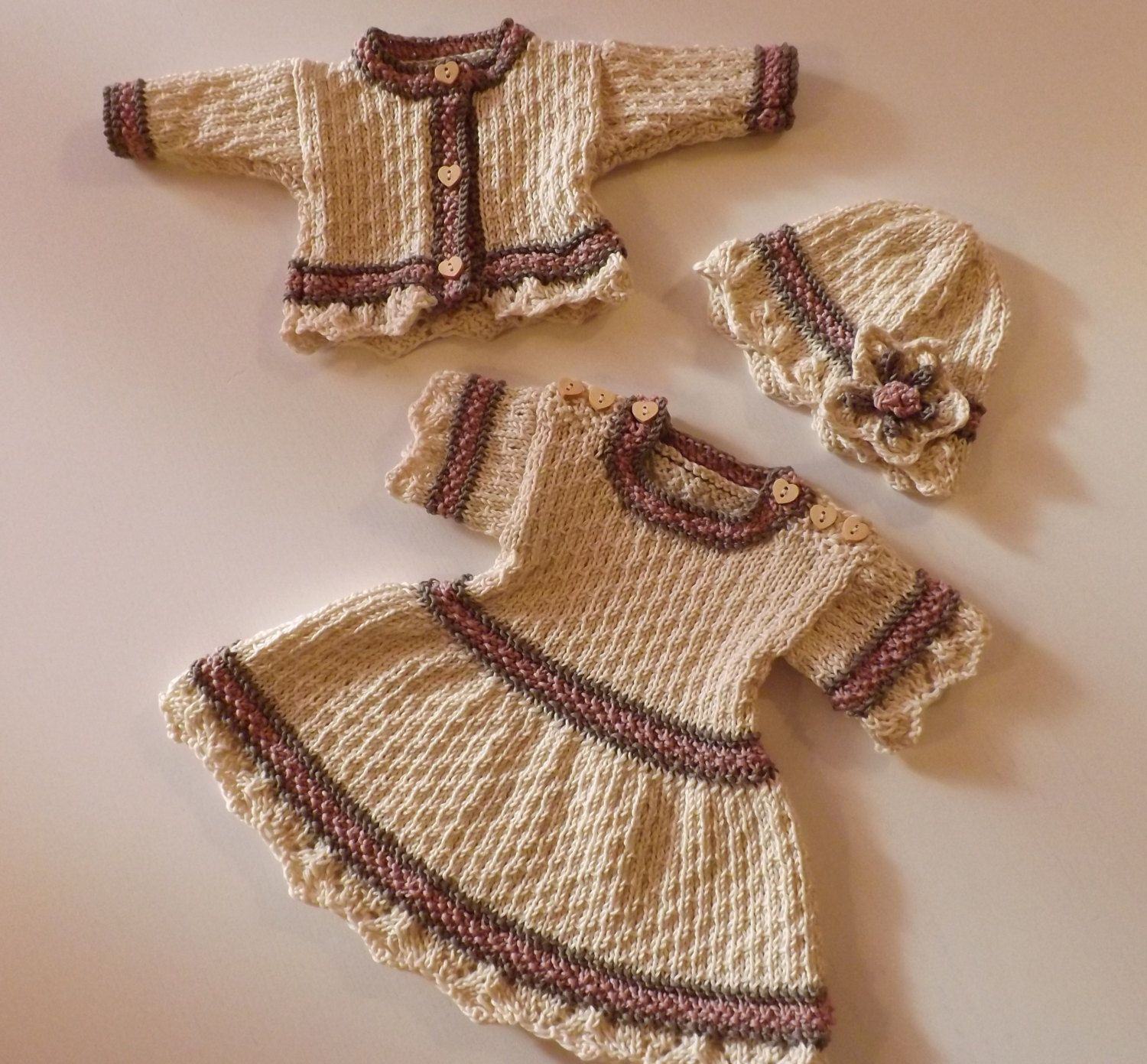 BABY GIFT Knitting Pattern Knit for Babys First Christmas Baby ...