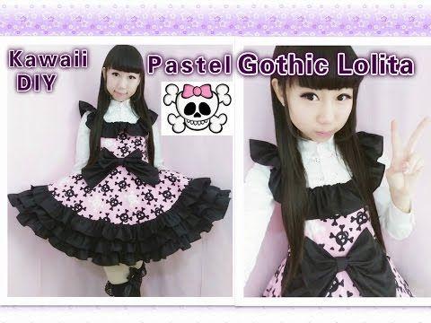 f68eb0f17b Easy Kawaii DIY - How to Make Pastel Gothic Lolita Dress(make ruffles on  the dress) - YouTube