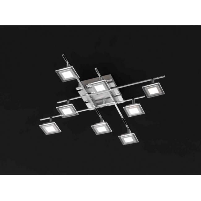 Wofi LILIAN Deckenleuchte LED Nickel-Matt 924408540000 - deckenleuchte led wohnzimmer