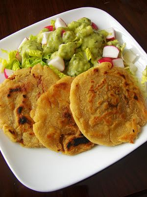 Salvadoran Cuisine Pupusas With TomatilloAvocado Sauce Singer - Singer cuisine