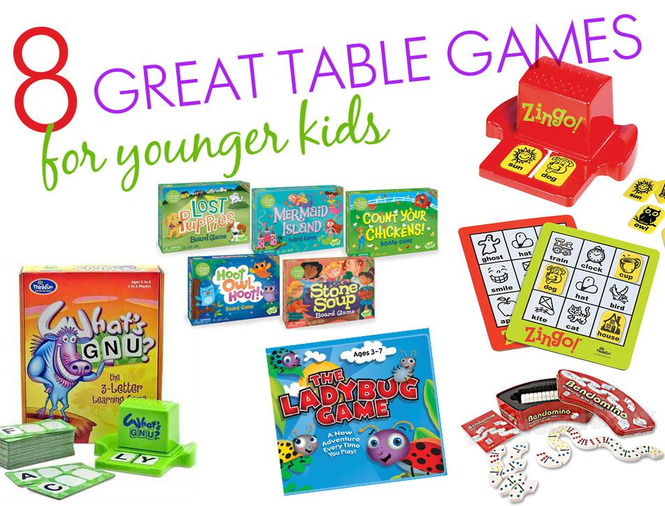 8 Great Table Games For Younger Kids Table Games Games For Kids