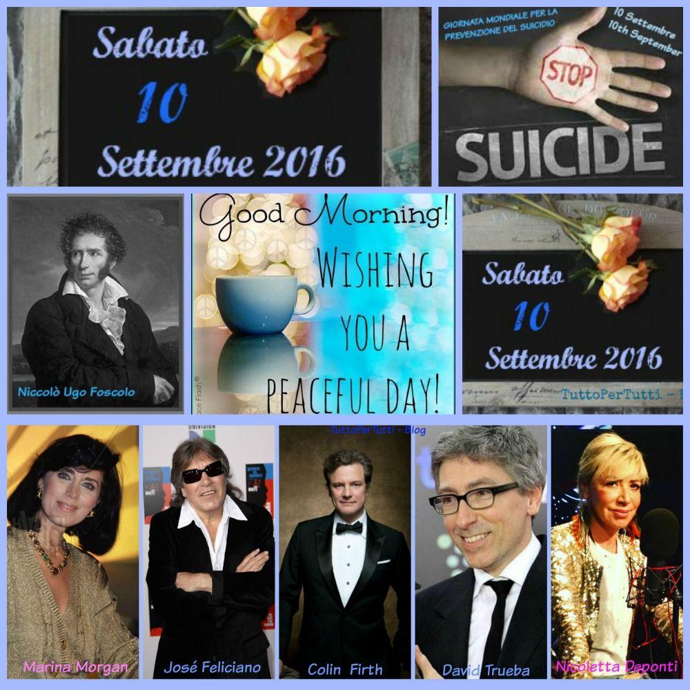 10 SETTEMBRE 2016 - Sabato - GIORNATA MONDIALE PER LA PREVENZIONE DEL SUICIDIO http://tucc-per-tucc.blogspot.it/2016/09/10-settembre-2016-sabato-giornata_10.html