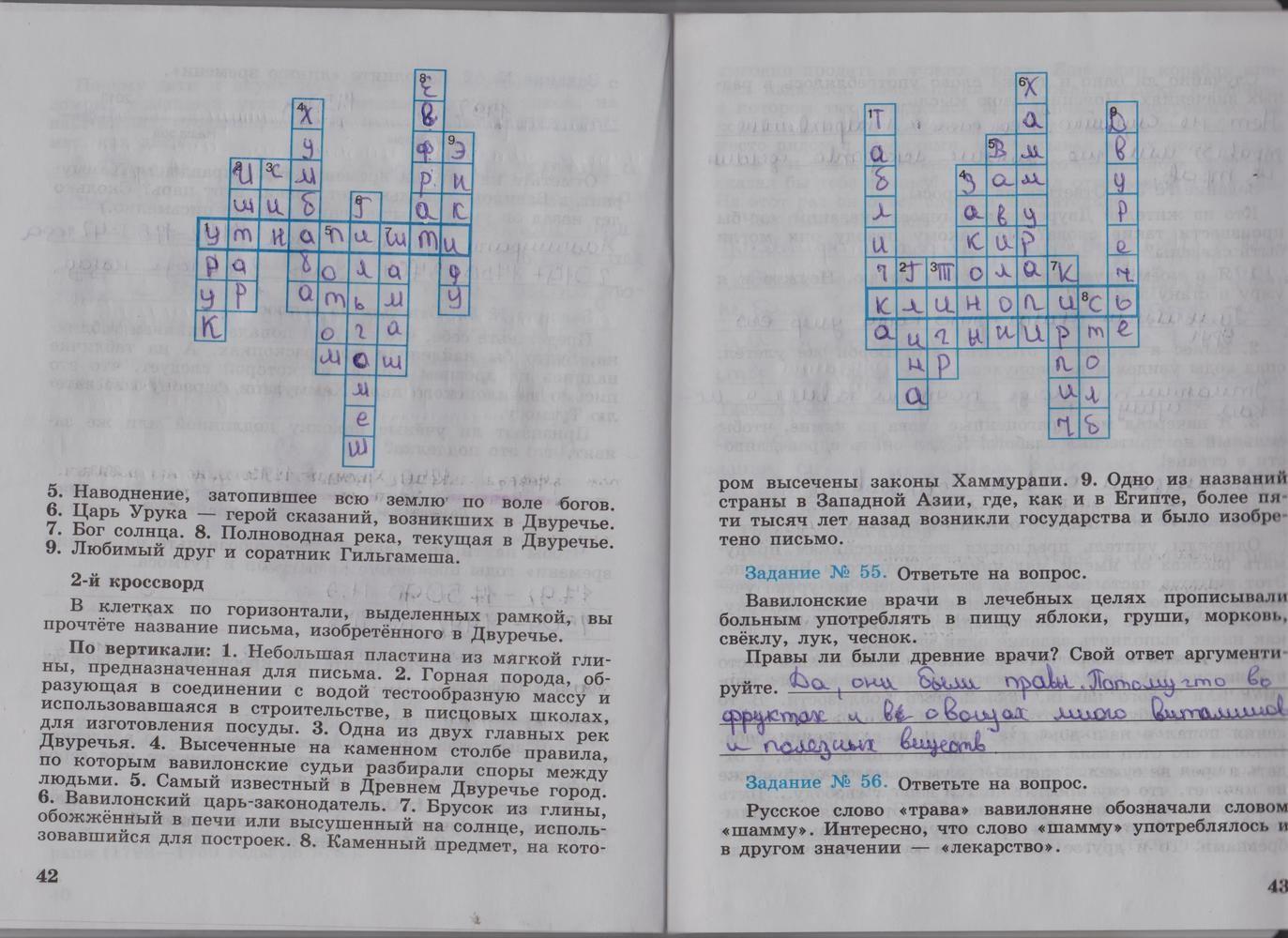 Списывай ру-история-рабочая тетрадь 5 класс