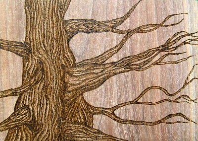 tree wood burning
