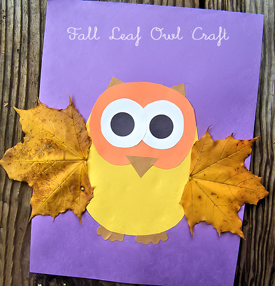 Fall Leaf Owl Craft Fall Crafts For Kids Owl Crafts Kids