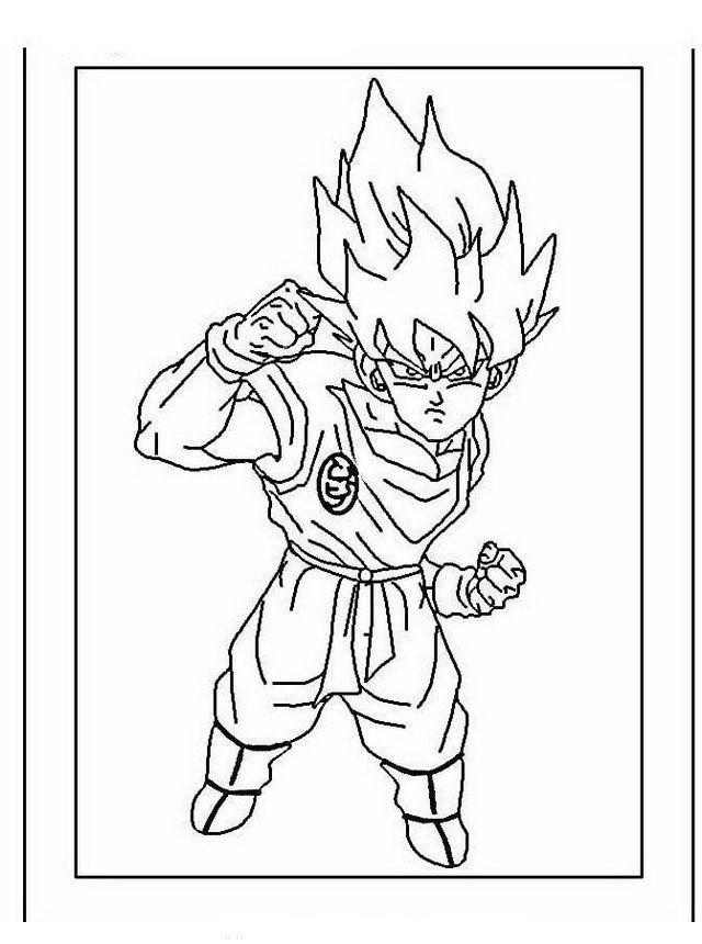 Dragon Ball Z Ausmalbilder. Malvorlagen Zeichnung druckbare nº 19 ...