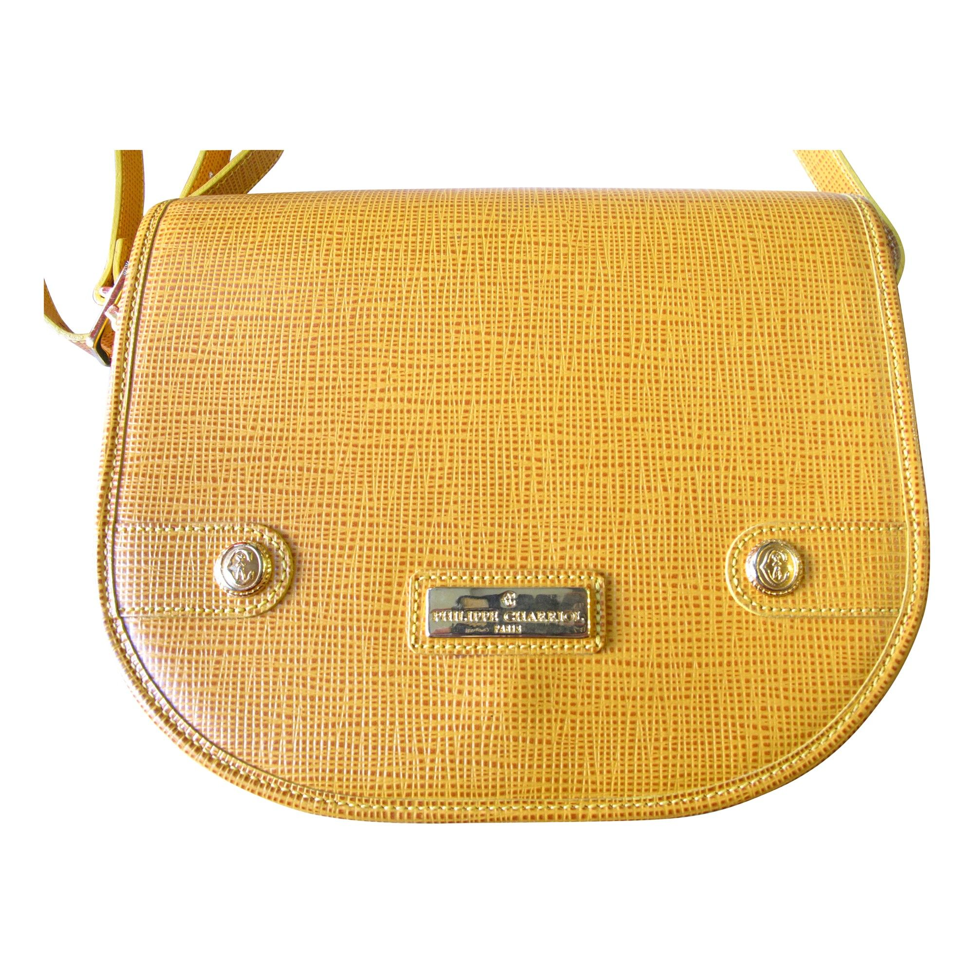 philippe charriol yellow leather shoulder bag