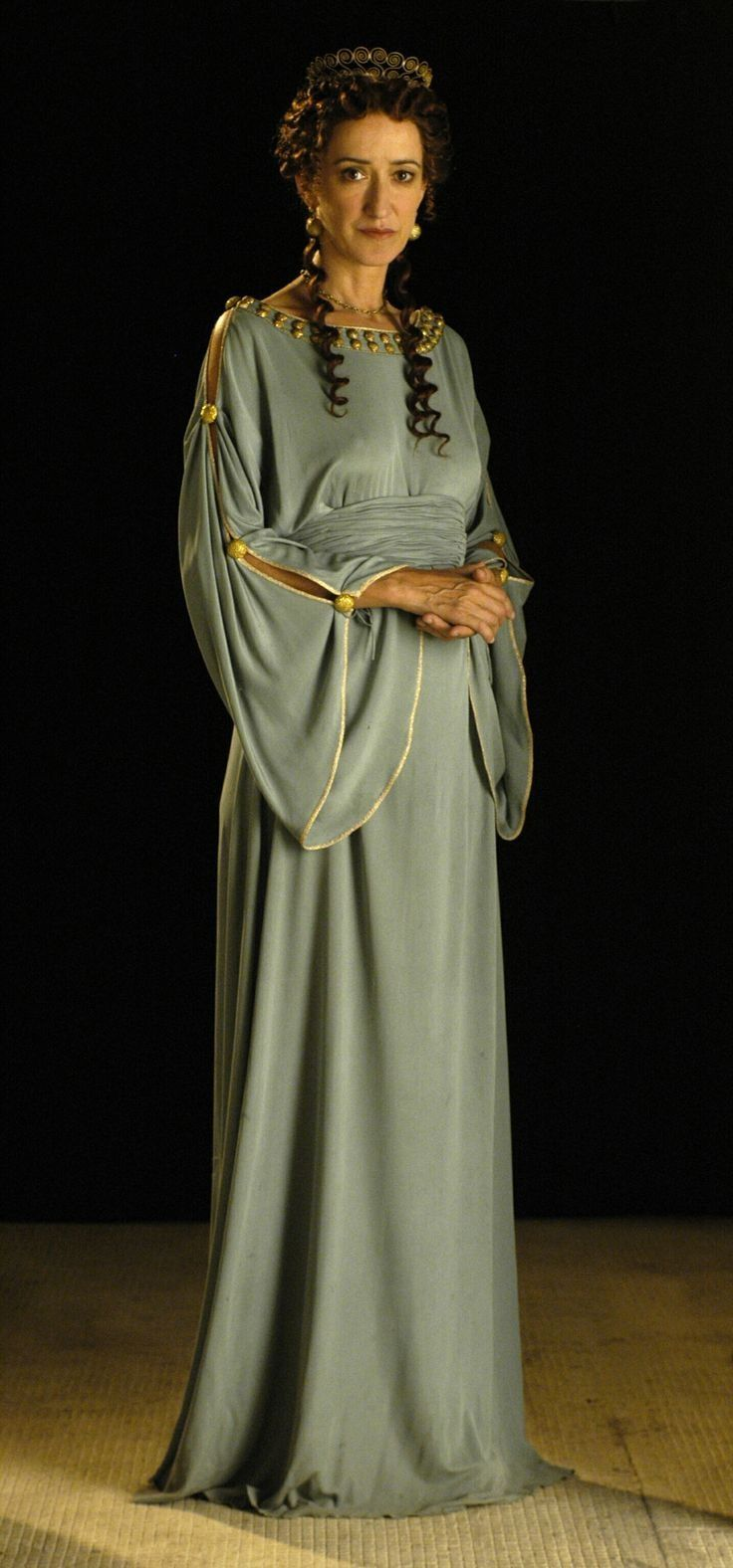 A high class Roman gown, made of finer fabric such as linen ...