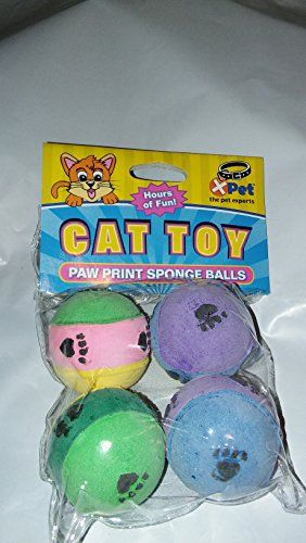Paw Print Sponge Balls *** Be sure to check out this awesome product.Note:It is affiliate link to Amazon.