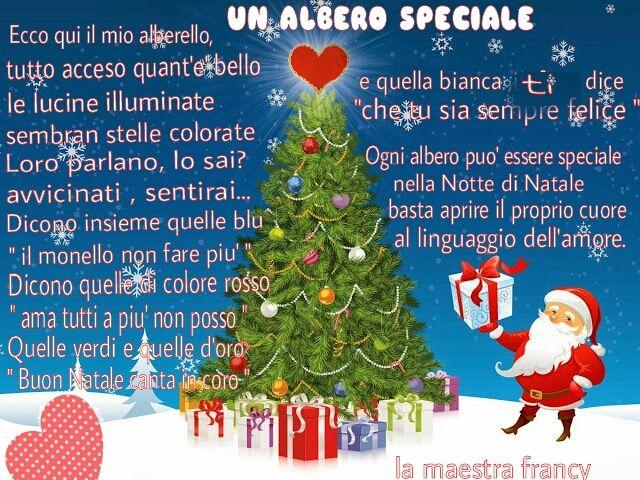 Poesie Di Natale In Sardo.Poesia Natale Un Albero Speciale Ecco Qui Il Mio Alberello