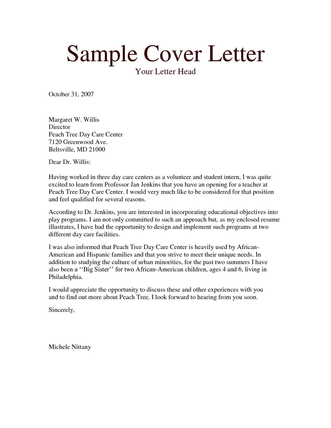 26 Substitute Teacher Cover Letter Cv In Pdf
