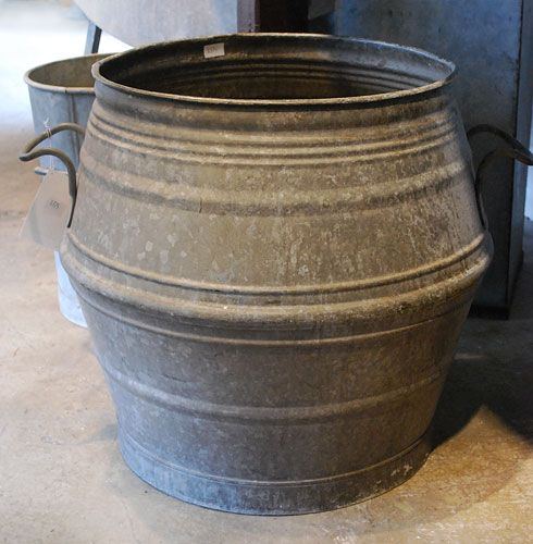 Galvanized Handled Container | Online Garden Store...wow....this is definitely a…