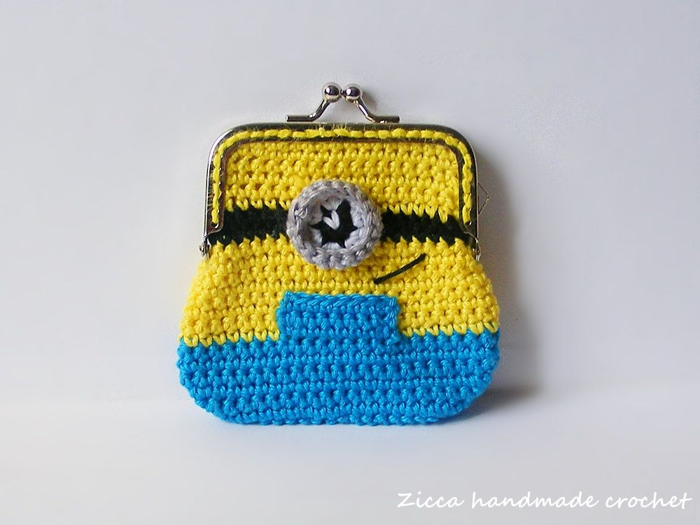 Crochet Minion coin purse PDF pattern | Horgolás | Pinterest