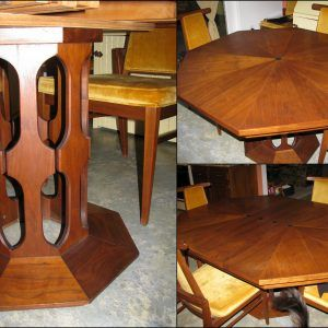 Octagon Dining Room Table Set