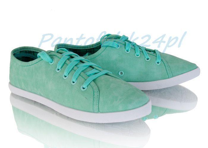 Mietowe Trampki Tenisowki J118 Pn00 Perfect Shoes White Sneaker Sneakers