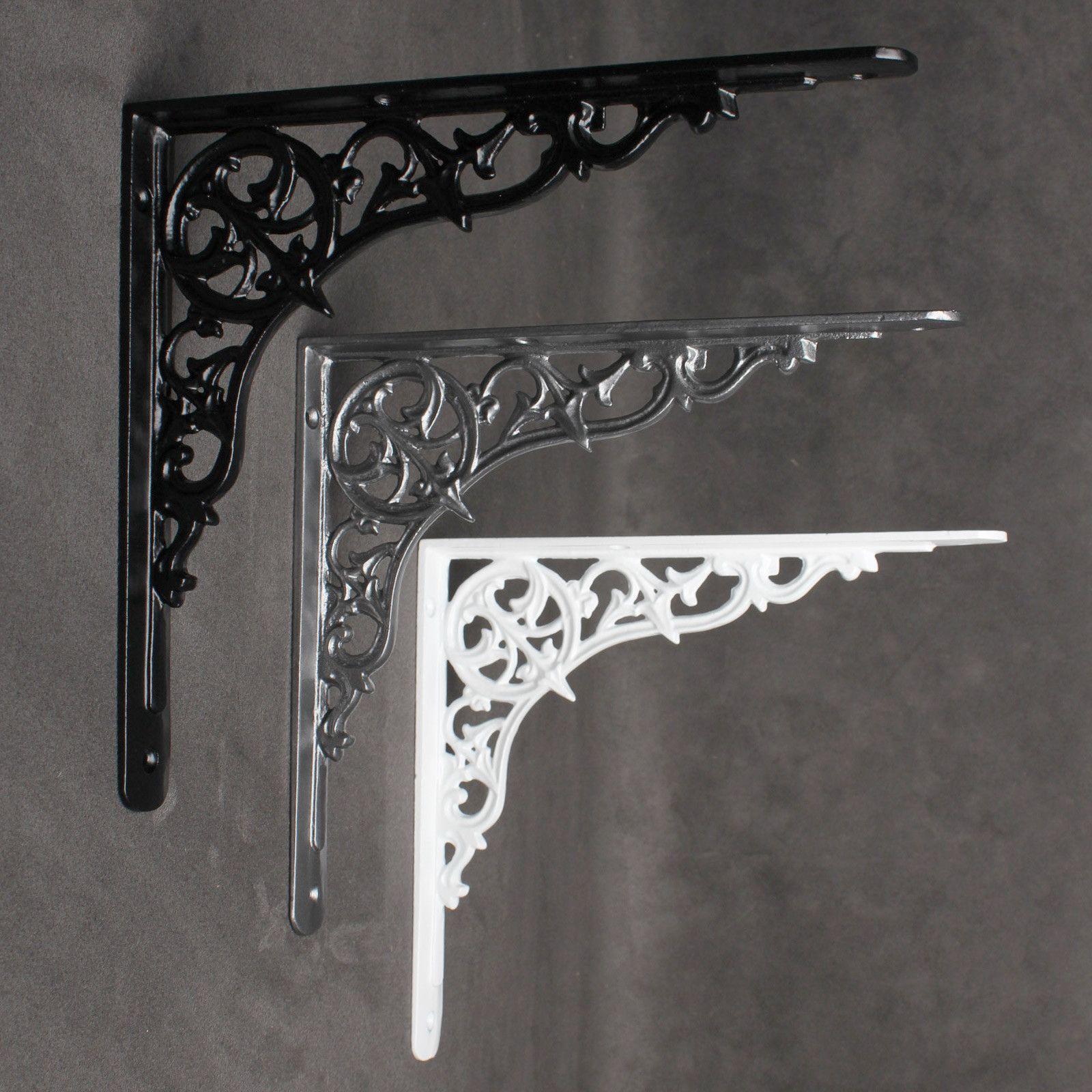 Antique Vintage Shelf Bracket Cast Iron Metal Victorian Design Heavy Duty 5 Inch