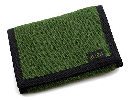 Men/'s Hemp Eight Compartment Trifold Wallet