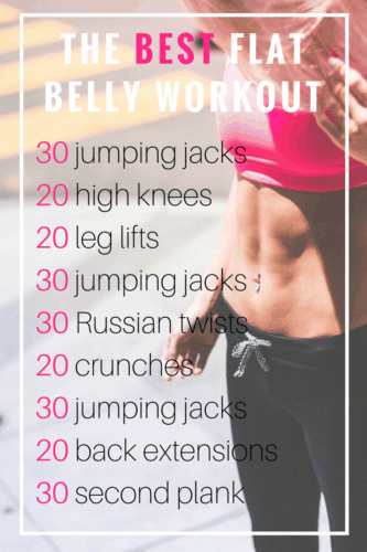 The Best Flat Belly Workout You Can Do at Home -   19 workouts for flat stomach for beginners ideas