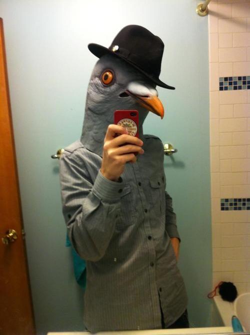 Youtumall Latex Pigeon Head Mask:Wear Hat Pigeon Mask ...