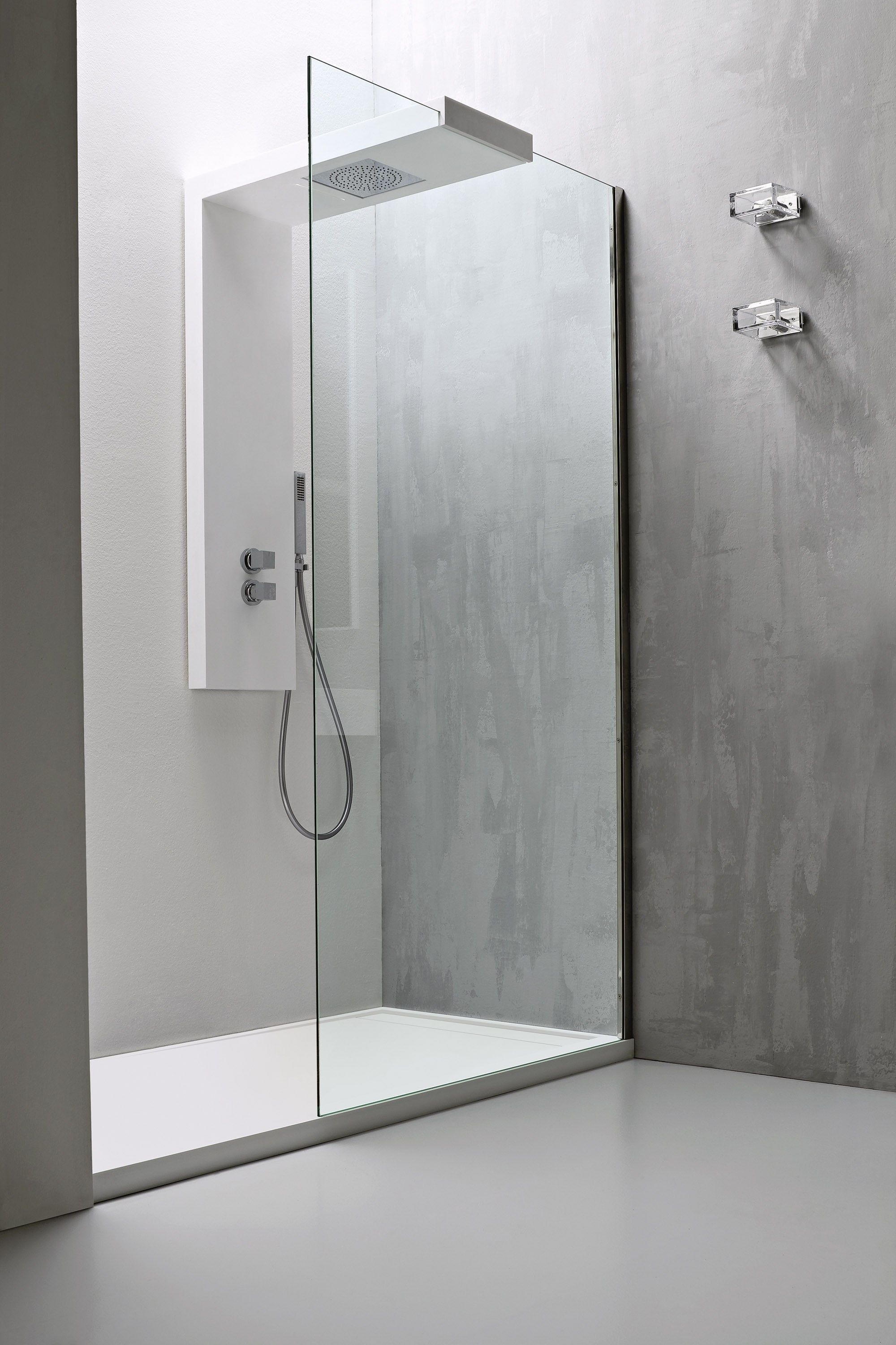 stand up shower faucet. Minimalist Glass Shower Panels With Frameless Door And Double Chrome  Handle Faucet Feat Hand