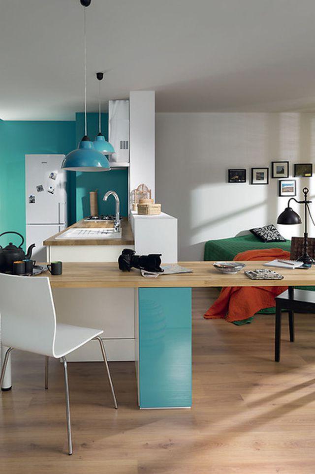 Petite cuisine  12 astuces gain de place Home Decor Pinterest - Table De Cuisine Avec Plan De Travail