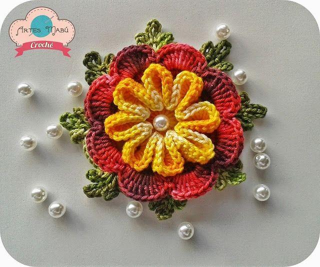 Bellart Atelier: Flor de crochê.