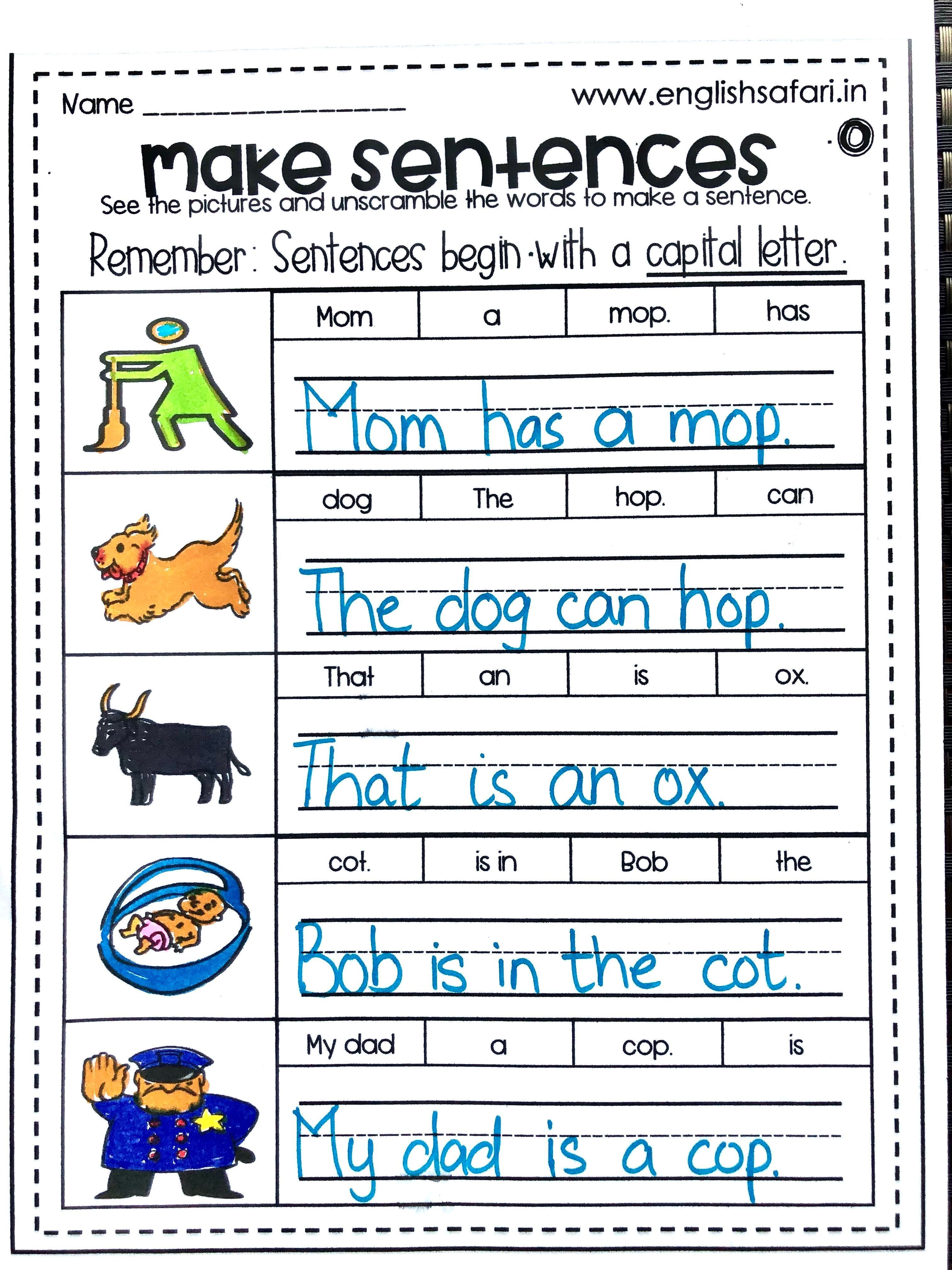 Basic Sentence Worksheets Printable Worksheets Are A Precious Sch In 2021 Writing Sentences Kindergarten 2nd Grade Reading Worksheets Kindergarten Reading Worksheets Learning to write sentences worksheets