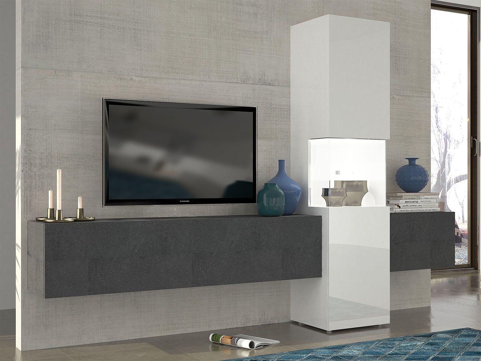 Wohnwand Mediawand Wohnzimmerschrank Fernsehschrank Tv Schrank Incontro I Wohnzimmerschranke Wohnen Fernsehschrank