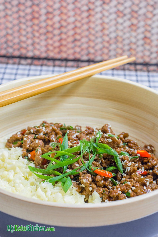 Sticky Korean Stir Fry Keto Ground Beef Recipe Pork Recipes Ground Beef Recipes Beef Recipes