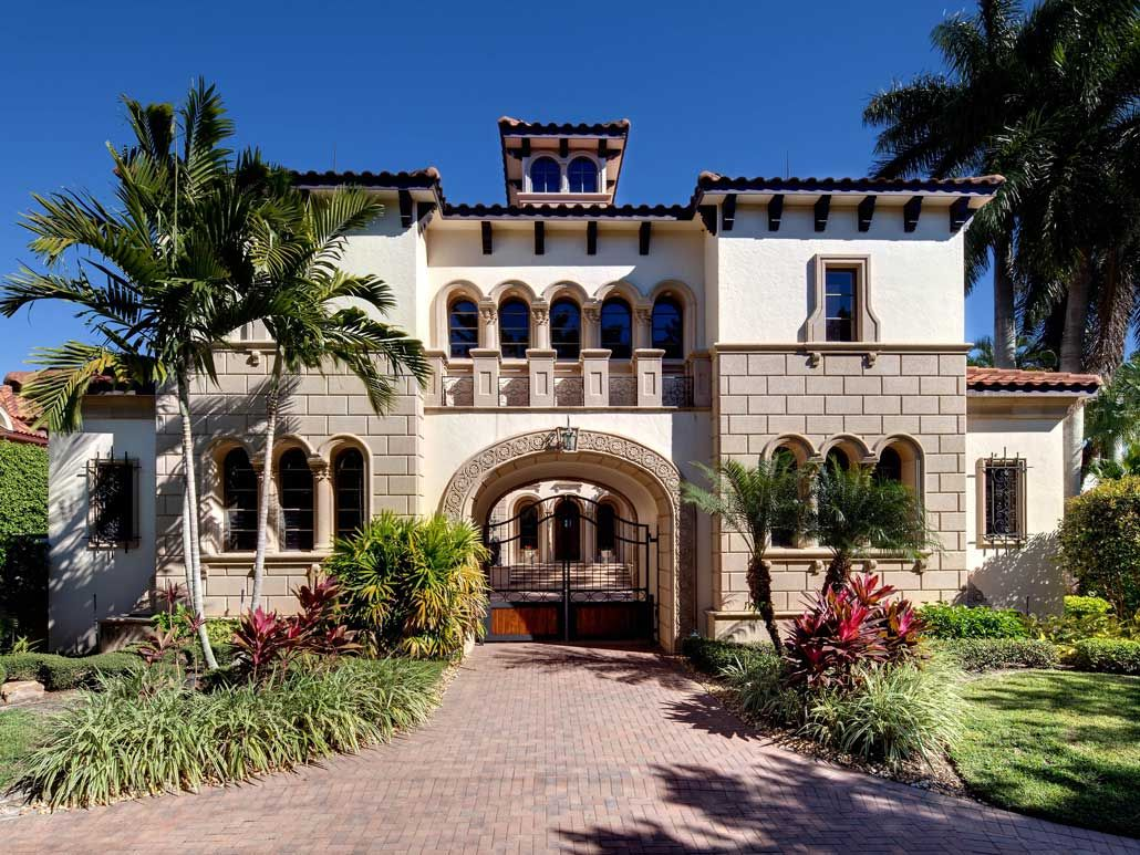 Spanish style mansion is located in naples fl hgtv for Florida mediterranean style homes