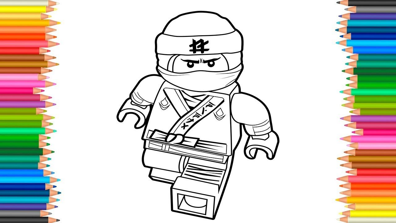 The LEGO Ninjago Movie 2017 Lloyd Coloring Page Coloring